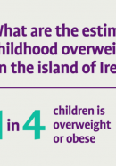 What are the estimated costs of childhood overweight and obesity on the island of Ireland?